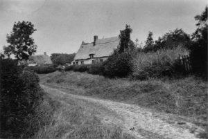 Church Lane - Old Black & White postcard