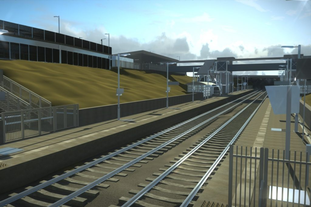 East West Rail model Station