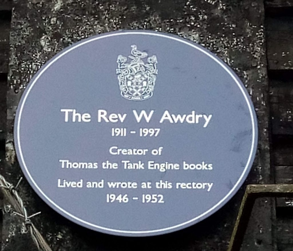 Blue plaque for Rev Awdry